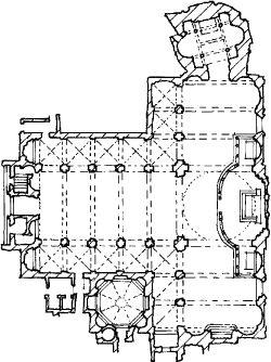 una planimetria di Santa Maria presso San Satiro