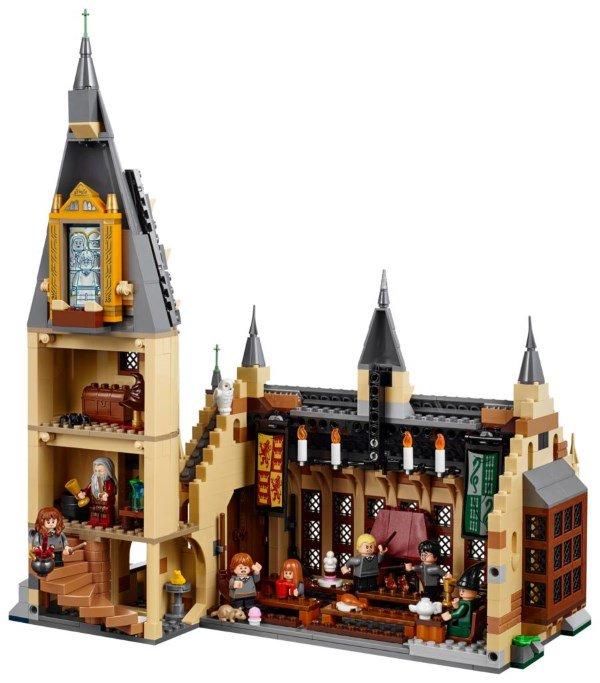 Lego Harry Potter - La Sala Grande di Hogwarts sezione aperta