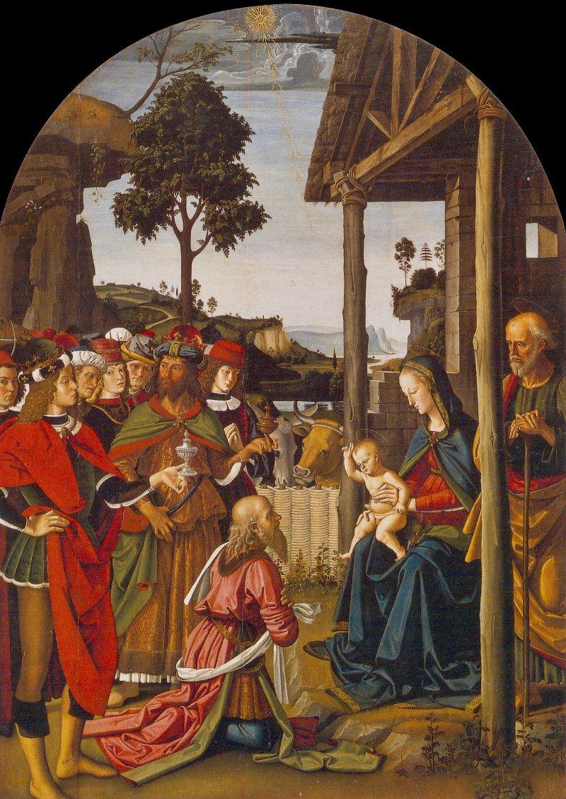 Adorazione dei Magi, Perugino. 1475