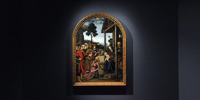 Perugino, Adorazione dei Magi a Palazzo Marino