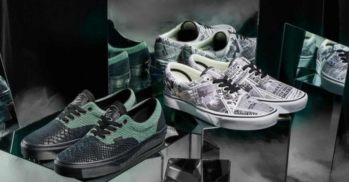 vans - harry potter - scarpe serpe verdi
