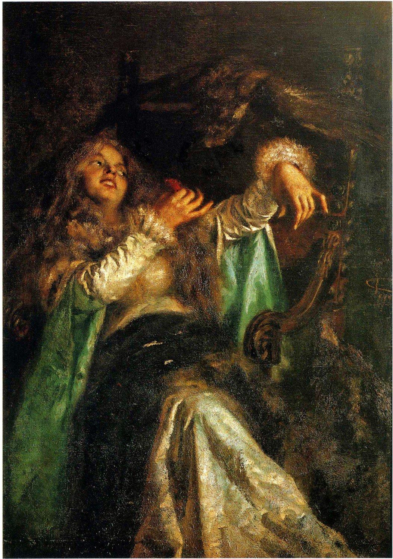 """Giovanni Segantini, """"La falconiera"""""""