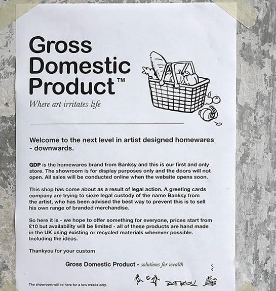 Banksy. La nuova installazione è un negozio a Londra