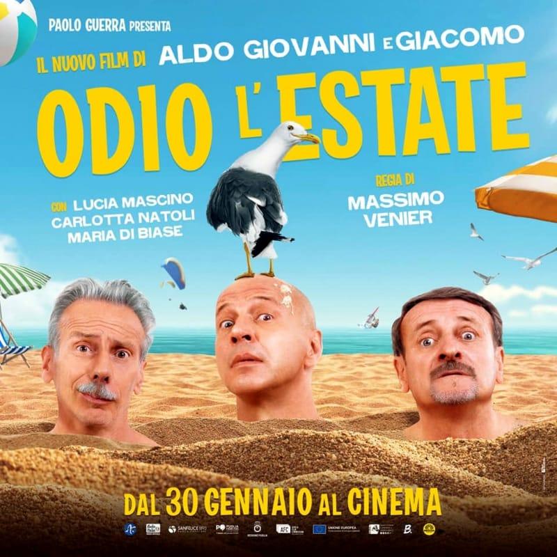 Odio l'estate locandina film Aldo Giovanni e Giacomo-2