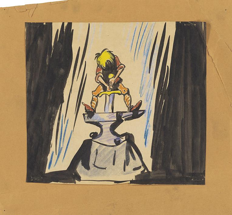 La Spada nella Roccia, 1963 Disney Studio Artist,