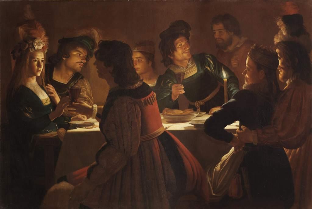 Gerrit van Honthorst, detto Gherardo delle Notti Cena con sponsali