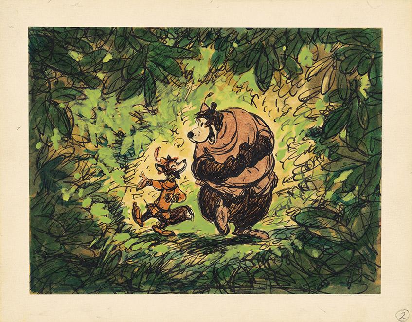 Robin Hood, 1973, Disney Studio Artist, Concept art