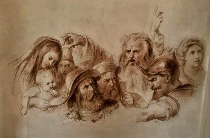 Francesco Podesti, scena tratta da Il giuramento degli Anconetani