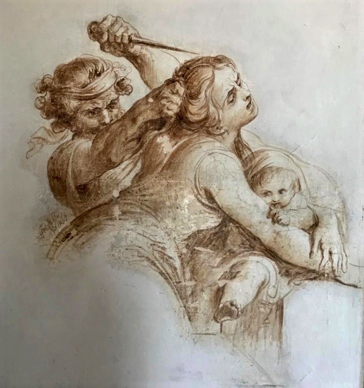 Francesco Podesti, scena tratta da La strage degli innocenti
