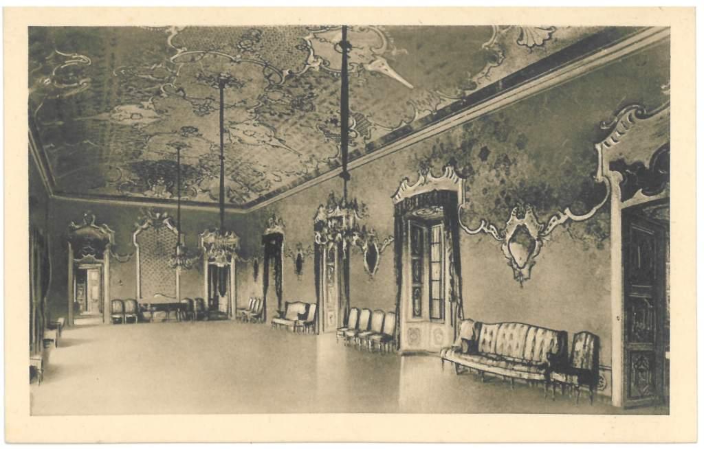 sala da ballo antica cartolina