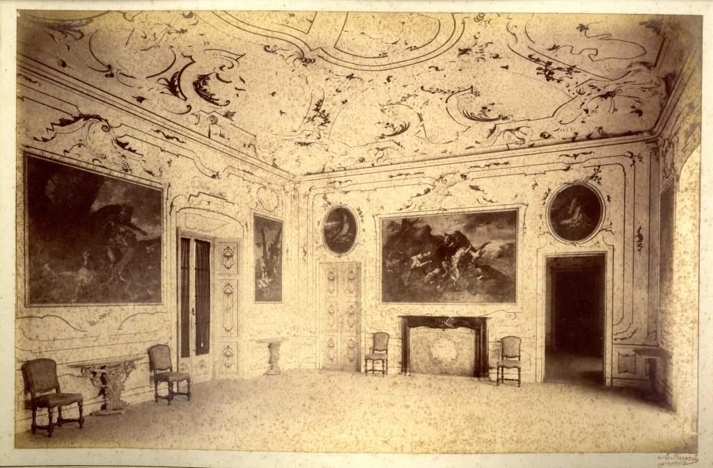 sala della caccia_foto fine Ottocento