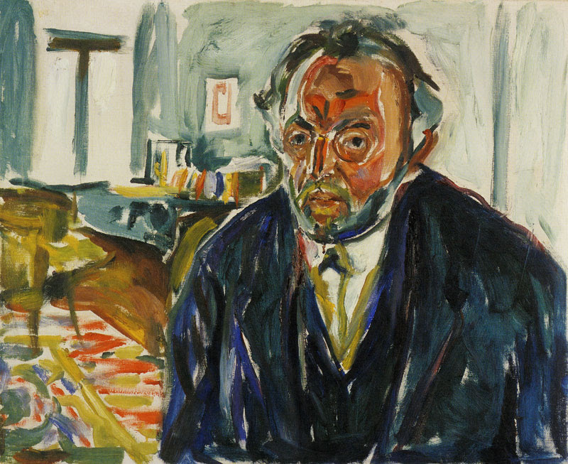 Autoritratto dopo la Spagnola, 1919, Edvard Munch