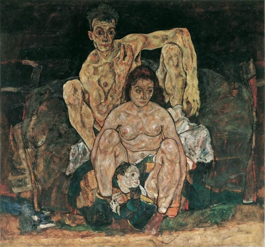 La famiglia, 1918, Egon Schiele