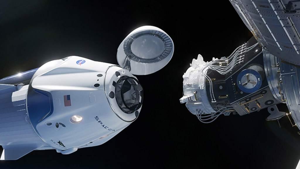 Operazione di attracco della capsula Dragon alla Iss