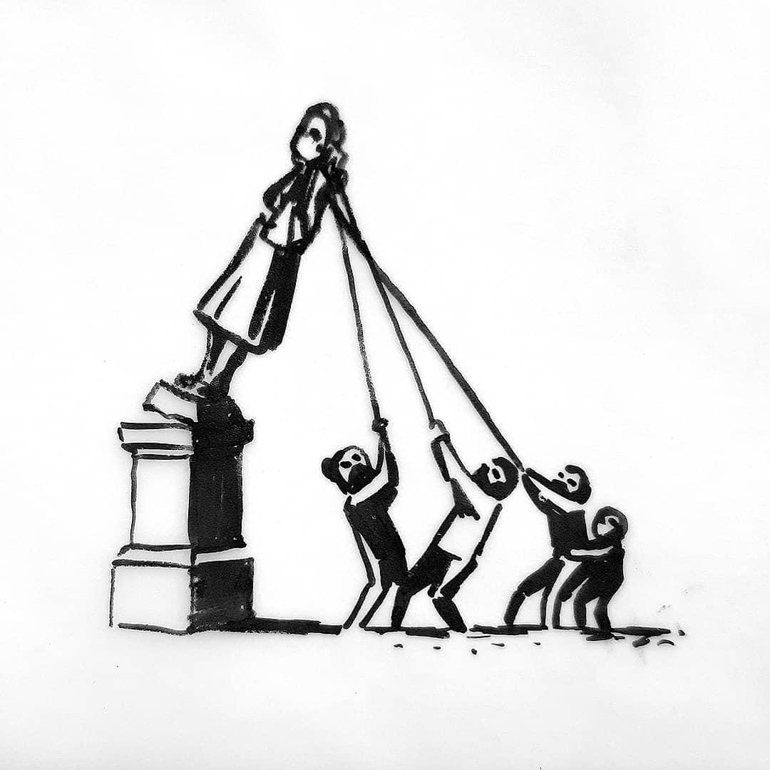 Banksy progetto statua schiavista