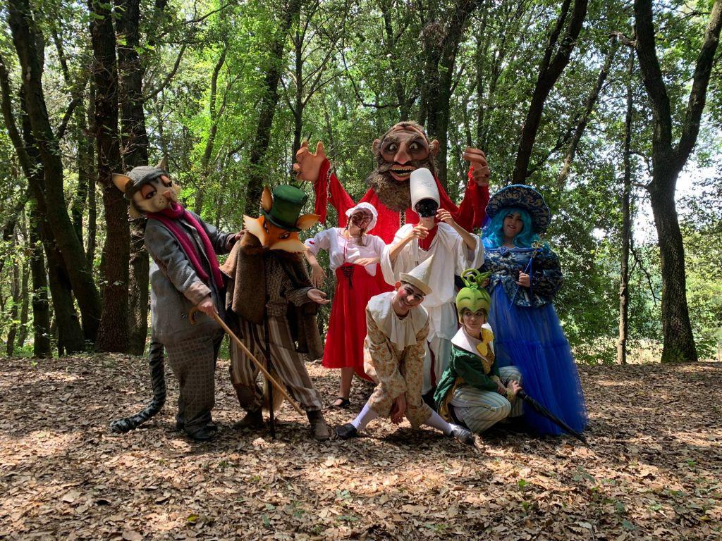 Cast Pinocchio nel bosco