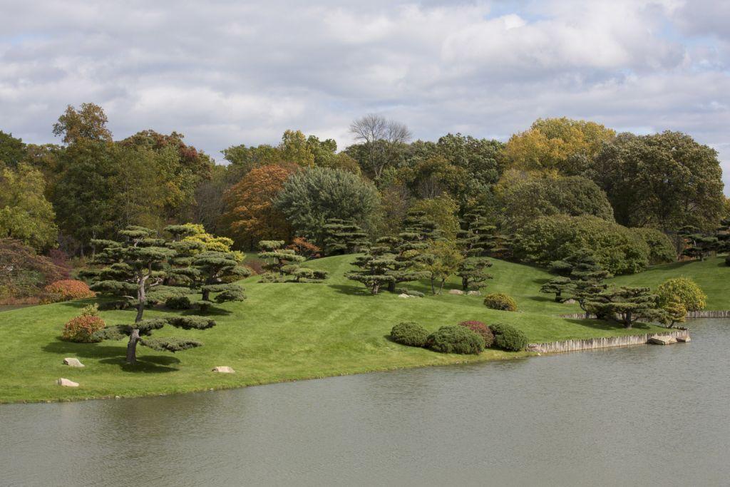 vista dall'alto di un parco naturale con davanti un lago