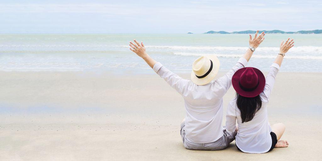 crocera turisti sulla spiaggia