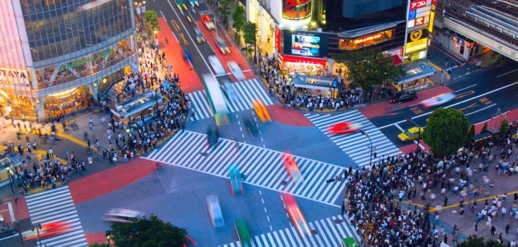 Shibuya incrocio dall'alto