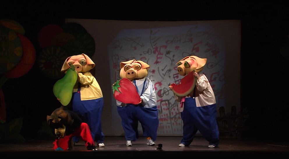 I tre porcellini spettacolo teatrale
