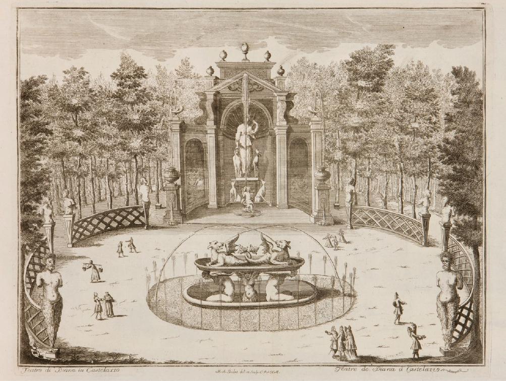 Immagine storica del teatro di diana del 1743