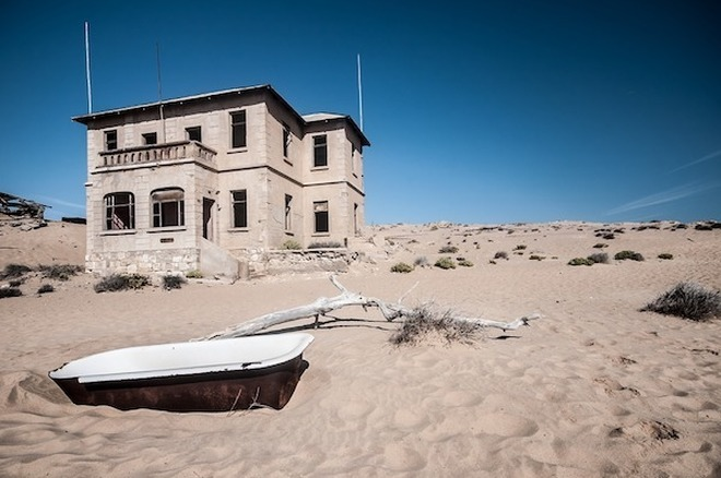 vista esterna di una casa a Kolmanskop
