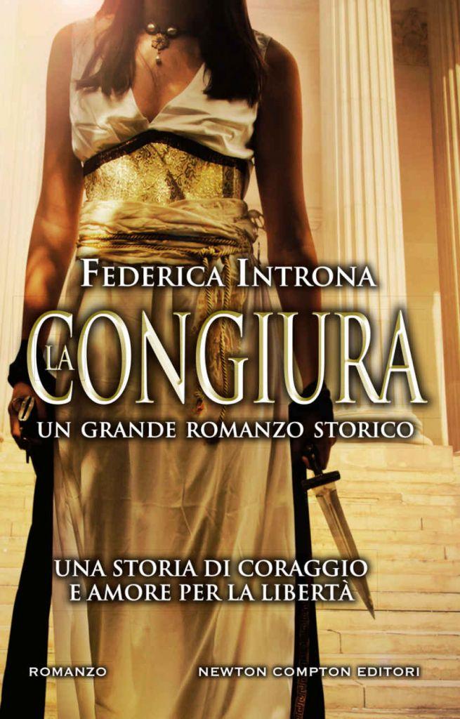copertina libro La congiura con donna in abito dorato