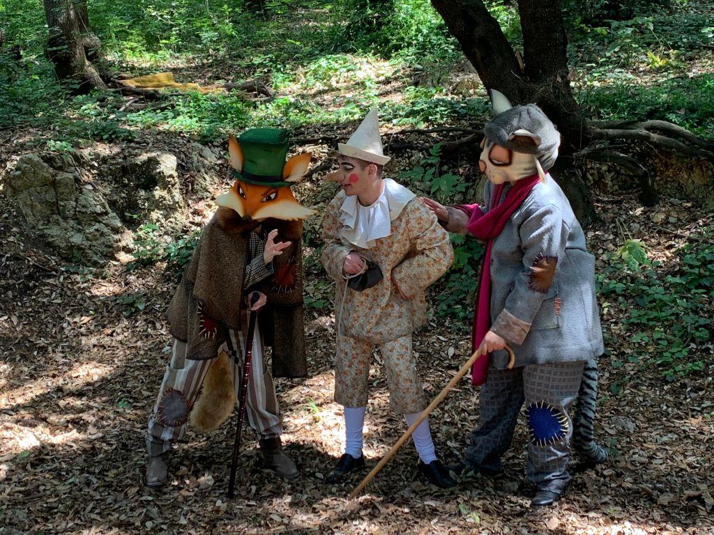 Pinocchio Gatto e Volpe spettacolo teatrale