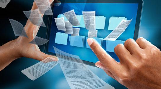 digitalizzazione di file nel compurer