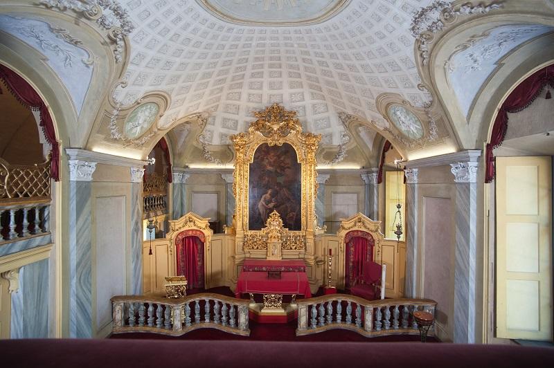 Castello di Moncalieri, vista interna della Cappella Reale