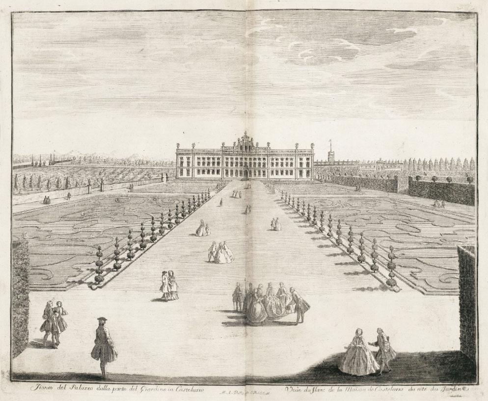 Marc'Antonio Dal Re – incisione che ritrae il parterre di Villa Arconati (1743)