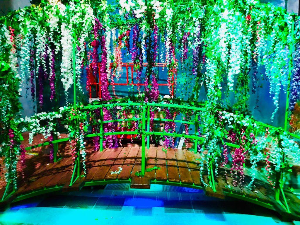 immagine immersiva del ponte di Monet