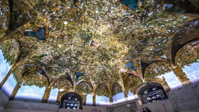 vista panoramica della sala delle asse di Leonardo da Vinci