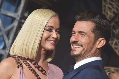 primo piano della coppia Katy Perry e Orlando Bloom