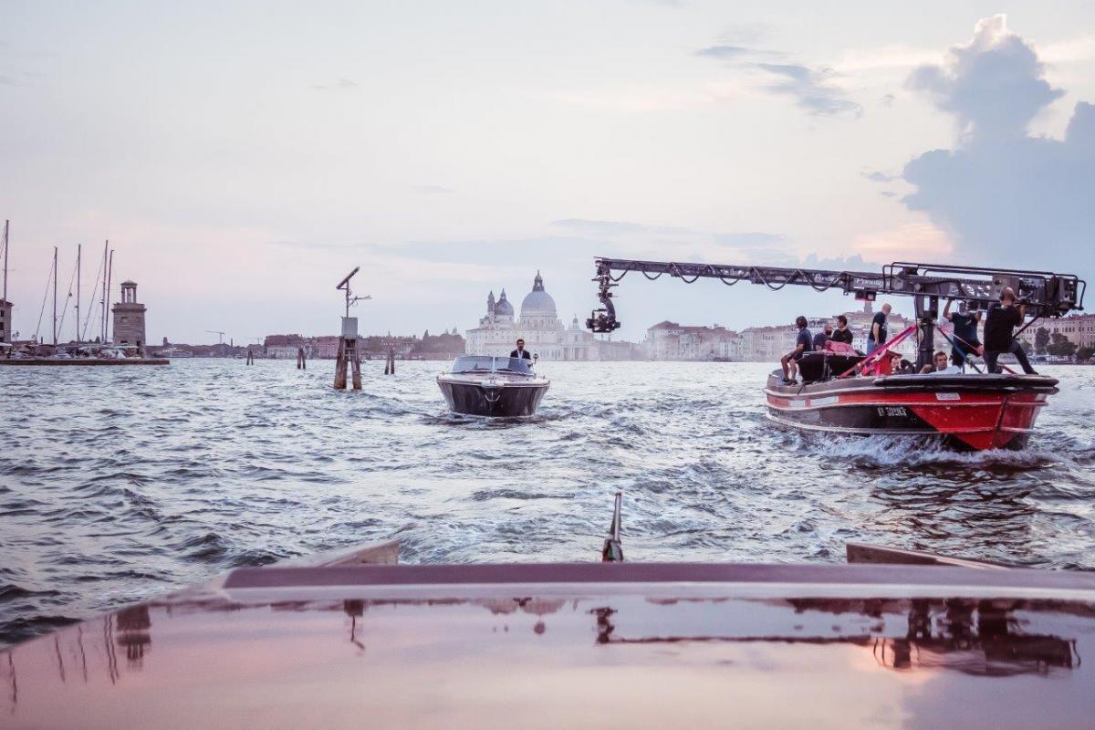 Alcune immagini delle riprese del cortometraggio di Venezia con Pierfrancesco Favino