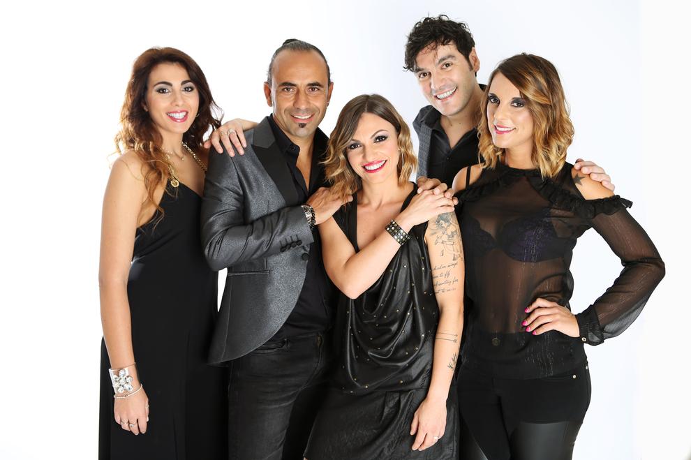 i cinqie componenti del gruppo musicale Matia Bazar