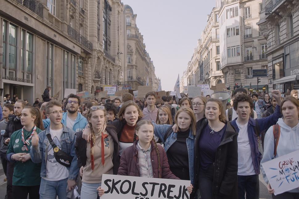 una delle scene del documentario dedicato a Greta Thunberg