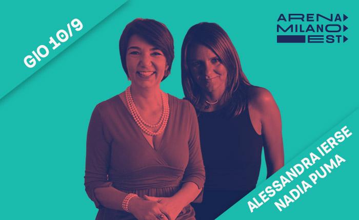 locandina con Alessandra Ierse e Nadia Puma per lo spettacolo