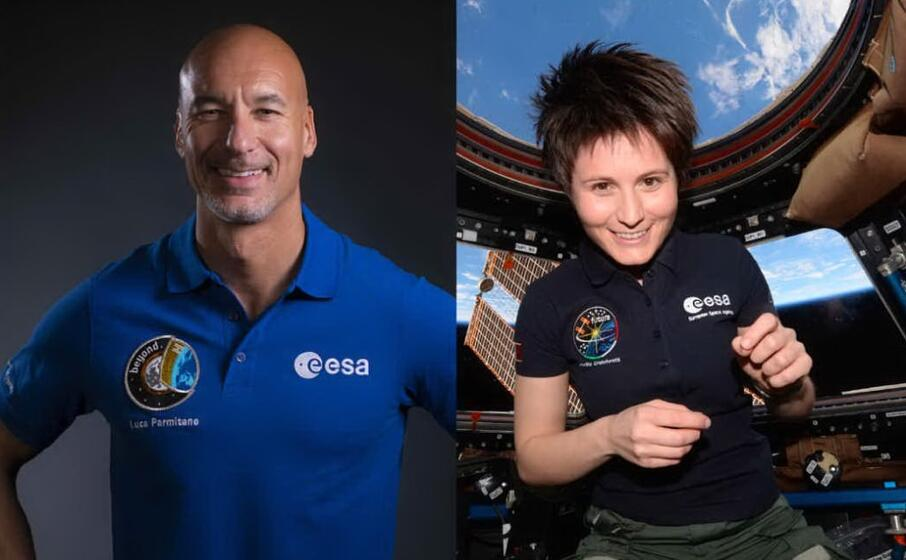 Italia sulla Luna, gli astronauti italiani Luca Parmitano e Samantha Cristoforetti