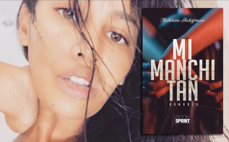Intervista a Madeleine Hakizimana nella foto un primo piano e la copertina del suo libro