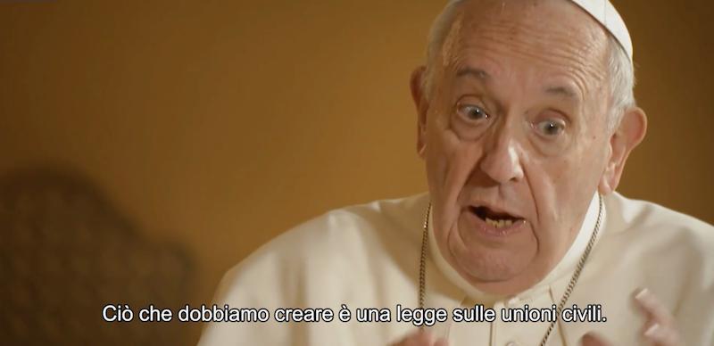 Papa Francesco unioni gay, un estratto del documentario