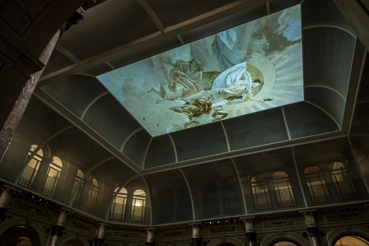 Tiepolo. Venezia, Milano, l'Europa soffitto con proiezione