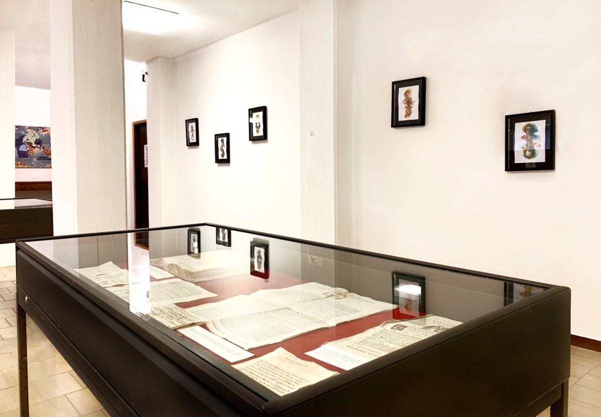 """Mario Vespasiani """"Ritratti interno della mostra all'archivio di stato di Pesaro"""