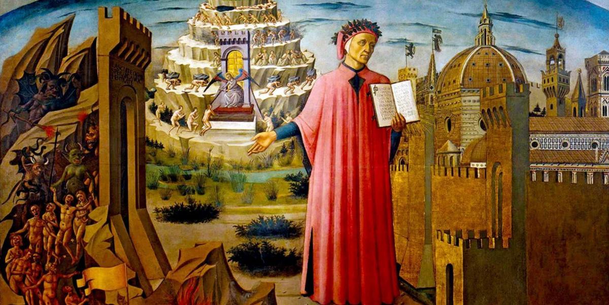 A riveder le stelle immagine di Dante e dell'inferno