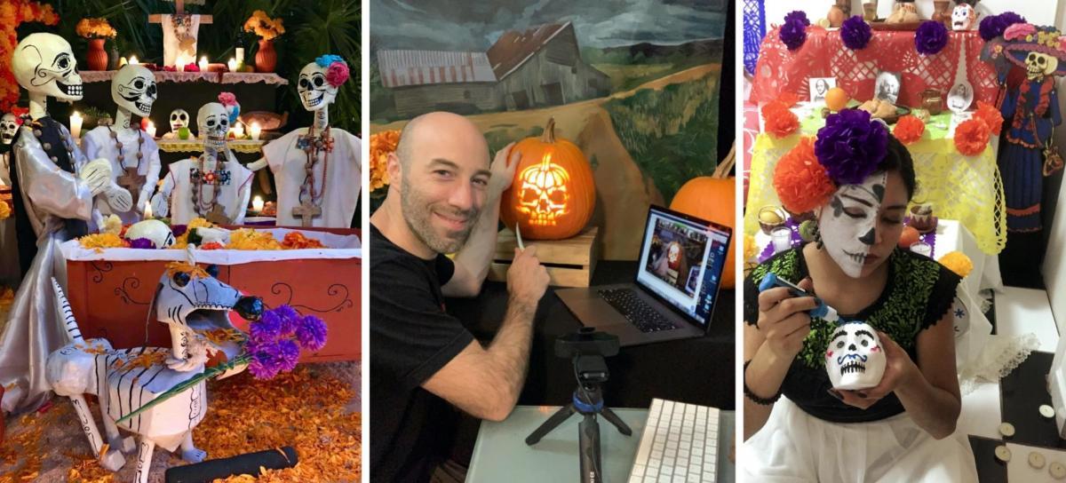 Halloween a Hell di Airbnb, attività online su come tagliare le zucche o sulla feste del Dìa de los muertos