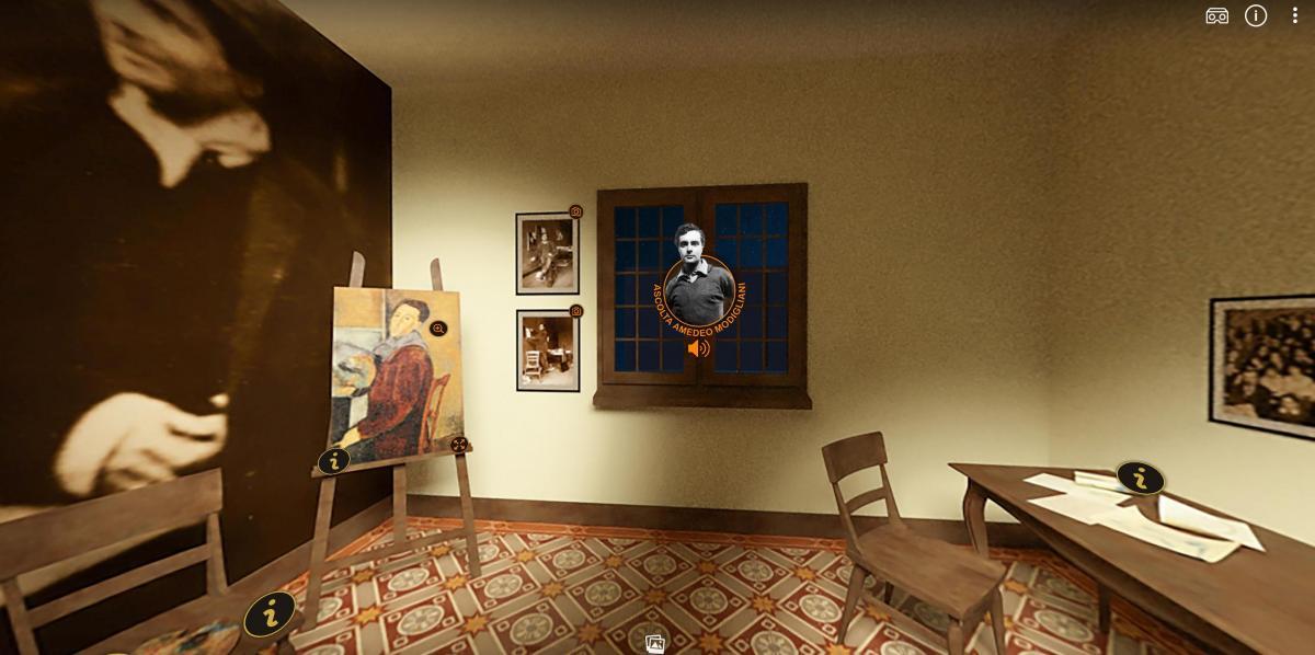 Nel segno di Modigliani tour virtuale prima stanza
