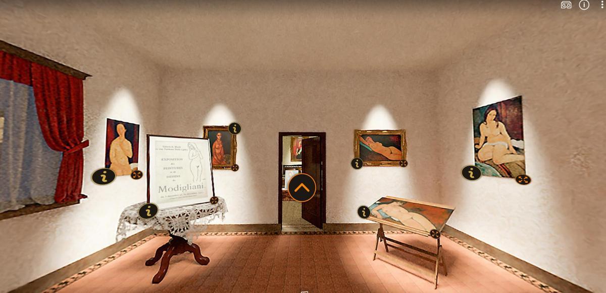 Nel segno di Modigliani una delle stanze del tour virtuale