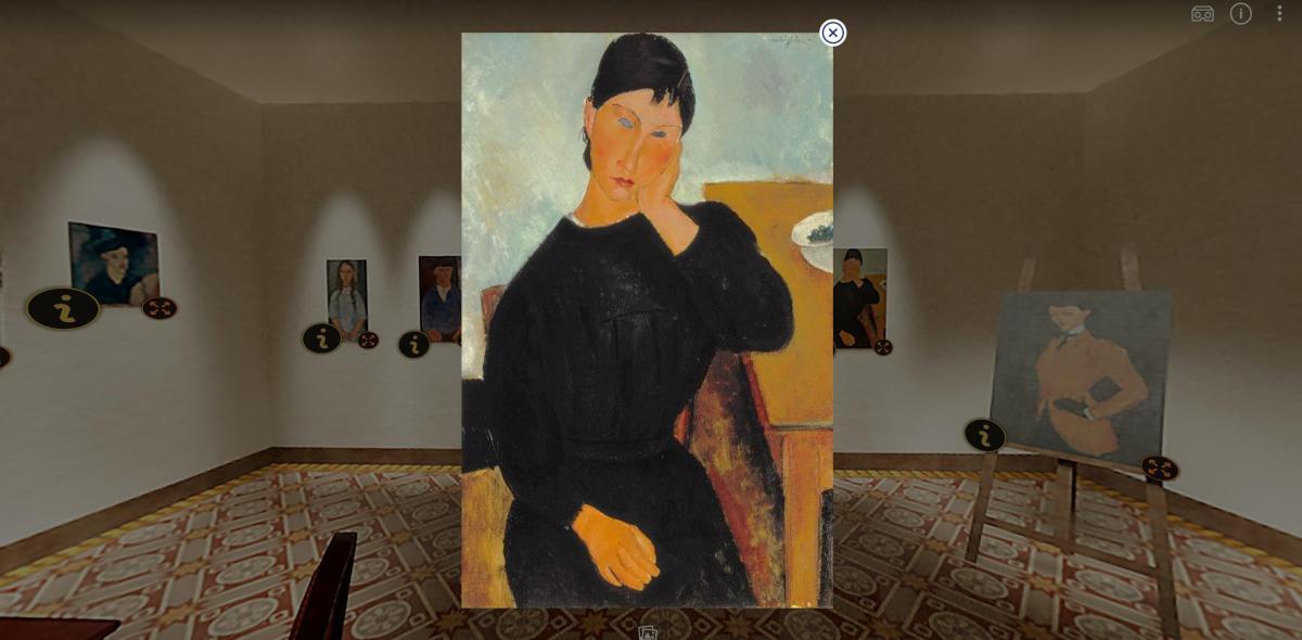 Nel segno di Modigliani ingrandimento di un'opera