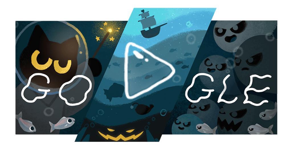 Halloween il Doodle di Google SCHERMATA INIZIALE