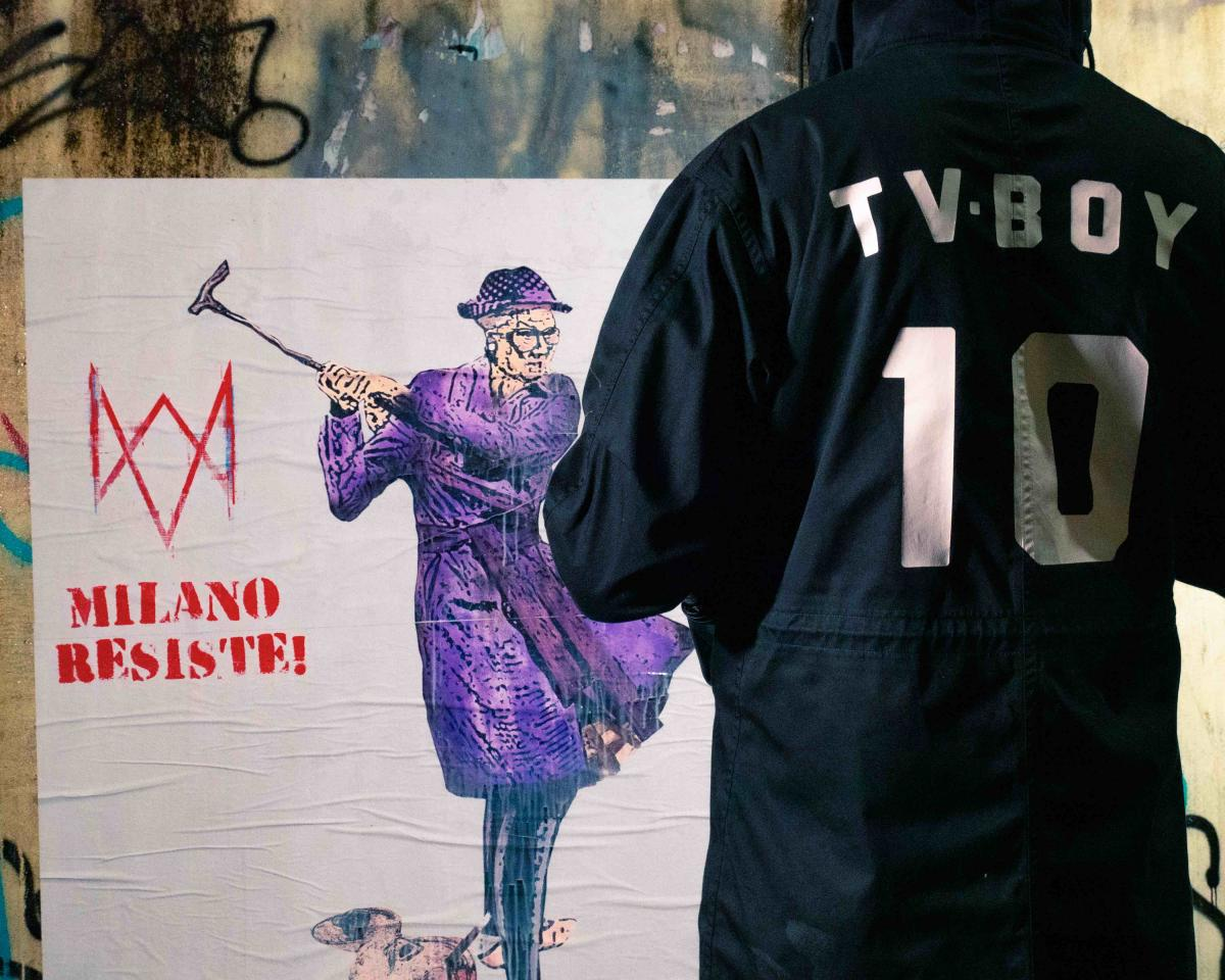 TVBOY, prima opera di street art non deturpabile